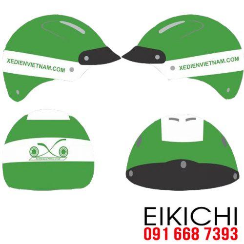 Mẫu nón bảo hiểm quảng cáo Xe Đạp Điện làm quà tặng ở TPHCM xưởng sản xuất Eikichi