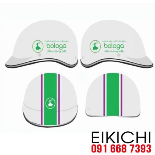 Mẫu nón bảo hiểm quảng cáo Bologa làm quà tặng ở TPHCM xưởng sản xuất Eikichi