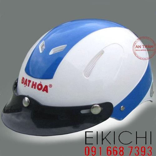 Mẫu nón bảo hiểm quảng cáo Đạt Hòa làm quà tặng ở TPHCM xưởng sản xuất Eikichi