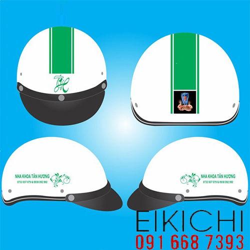Mẫu nón bảo hiểm quảng cáo Tân Hương làm quà tặng ở TPHCM xưởng sản xuất Eikichi